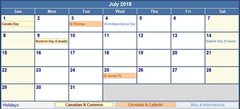 July 2018 Calendar With Holidays Calendar Template Excel Excel Calendar Template 2018 With Holidays