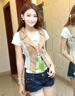 Kemeja Import Korea 18 rompi wanita modis korea import jual model terbaru murah