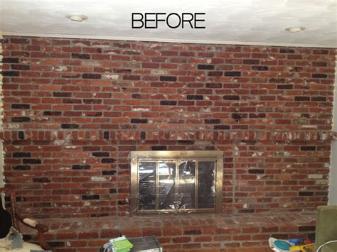 hometalk how to paint an brick fireplace