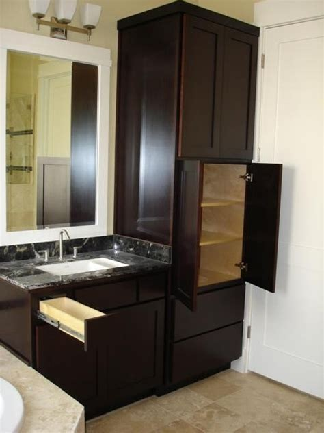 bathroom vanity and linen cabinet combo bath linen vanity contemporary bathroom houston by