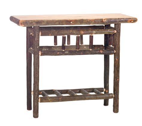 cottage sofa table cottage hickory open sofa table rustic furniture mall by