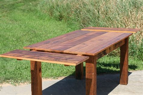 reclaimed pine square wood extension table farmhouse