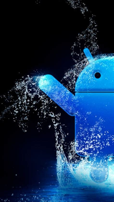 blue android water iphone  wallpapers hd