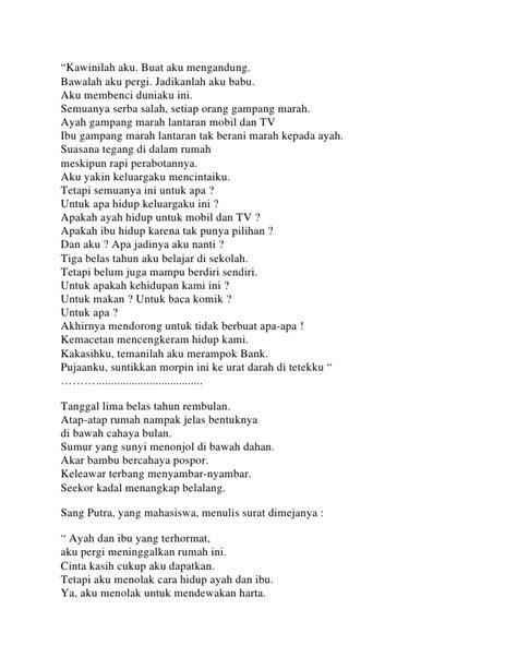 membuat puisi tentang ayah kumpulan puisi