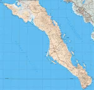 baja california sur map baja california sur state map