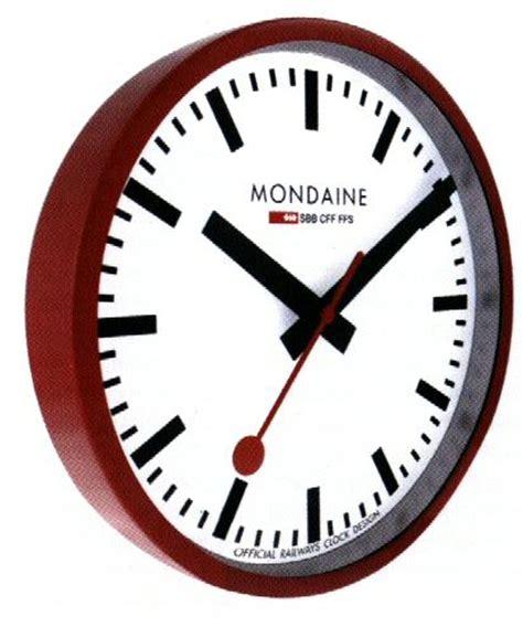 mondaine wall clock red railway wall clock a990 clock 11sbc mondaine