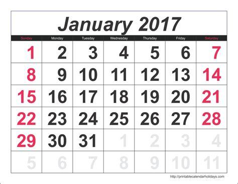 print calendar template january 2017 calendar 6 templates landscape printable