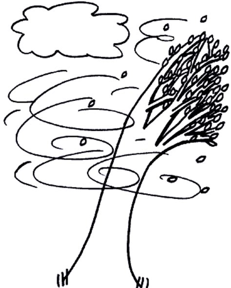 windy day free colouring pages