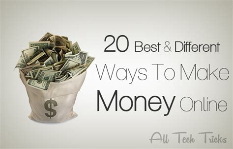 Different Ways To Make Money Online - 20 best and different ways to make money online how to