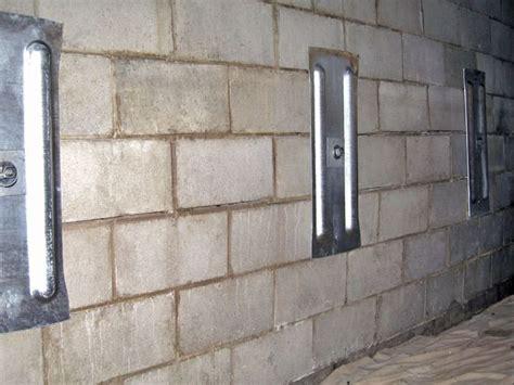 cinder block basement wall repair images