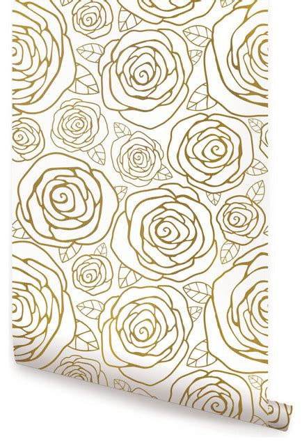 gold rose pattern 8319 accentuwall rose gold wallpaper peel and stick