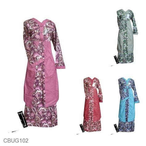 Baju Batik Gamis Murah baju batik gamis motif batik pelikan melayu gamis batik