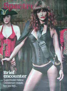 Helena Christensens Fashion Line Coming Soon To Net A Porter by Spectrum Magazine Helena Christensen Cover 2 November 2008
