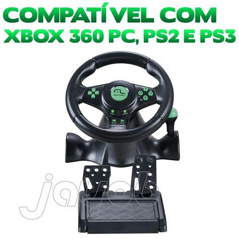 volante xbox 360 pc volante c pedal multilaser racer pc ps2 ps3 e xbox360