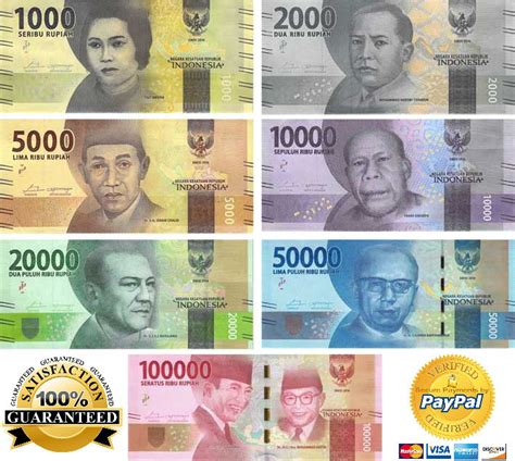 currency idr set indonesia 2016 188 000 rupiah unc set indonesia 2016