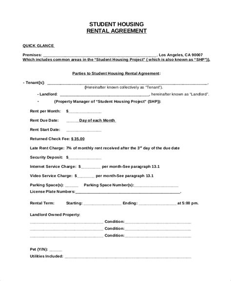house rental agreement sample sample house rental agreement 19 examples in pdf word