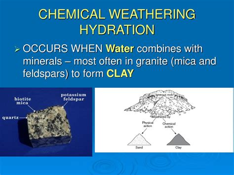 hydration weathering ppt weathering powerpoint presentation id 314244