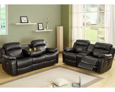 reclining sofa sets black reclining sofa set marille by homelegance el 9724blk set