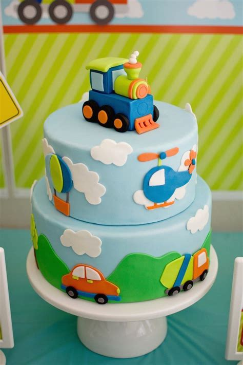 transportation themed birthday cake idea cakes