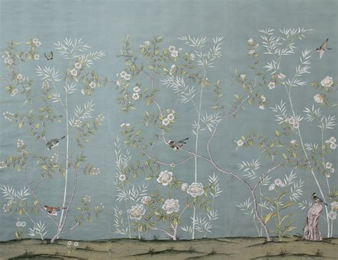 chinoiserie wallpaper peonies and orange blossoms chic chinoiserie wallpapers