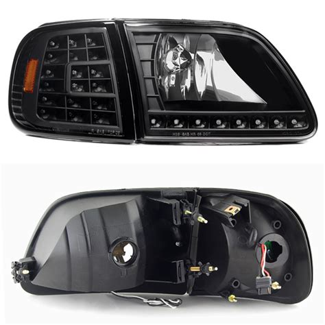 1997 ford f150 headlights 1997 2003 ford f150 f 150 expedition black led headlights
