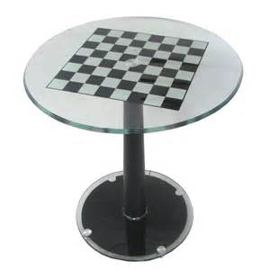 Modern Chess Table by Large Modern Italian Pedestal Chess Table