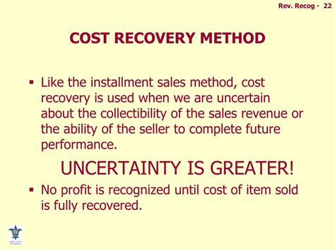 Cost To Recover by Ppt Revenue And Expense Recognition Powerpoint