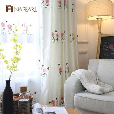 bedroom cozy red white floral motif bedroom curtains combination embroidered pink curtains kid room girl bedroom white