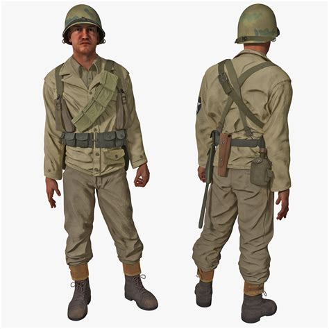 Humm3r Freed Black Original 39 44 3d american wwii infantry soldier