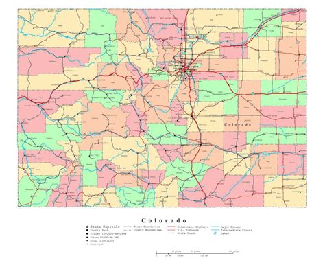 road map colorado usa maps of colorado state collection of detailed maps of
