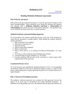Mediation Agreement Template Agreement Template Category Page 59 Efoza Com
