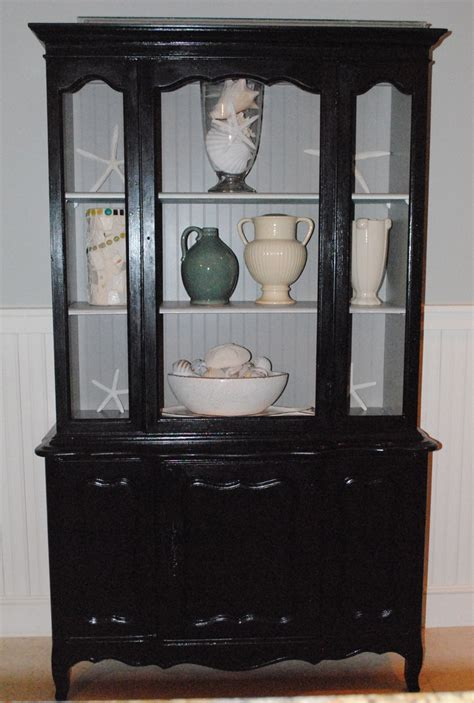 black china hutch cabinet my old bathroom china cabinet painted black with taupe