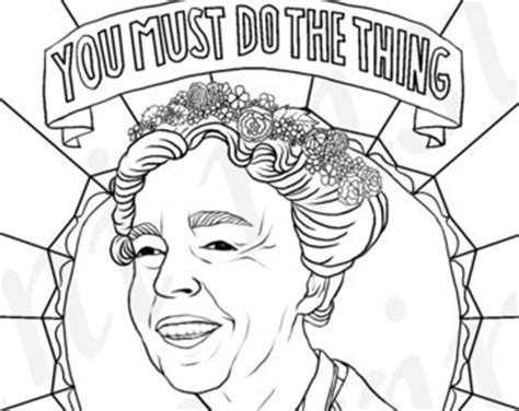 eleanor roosevelt coloring page coloring pages