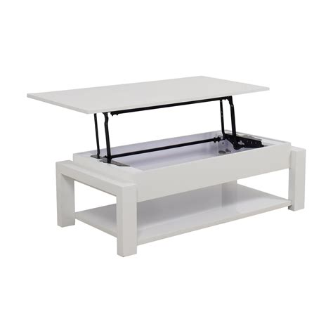 White Lift Top Coffee Table 84 White Lift Top Coffee Table Tables