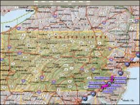 united states map pennsylvania pennsylvania map