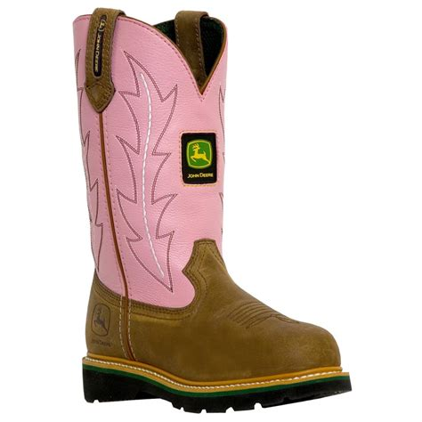 s deere 174 9 quot wellington boots with pink shaft