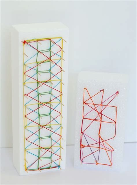 String For Children - string for using styrofoam and toothpicks buggy