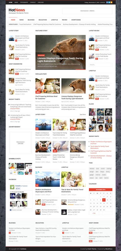 best wordpress themes newspapers top premium responsive wordpress themes wordpress themes