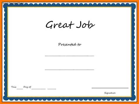 great templates great award certificate template professional and