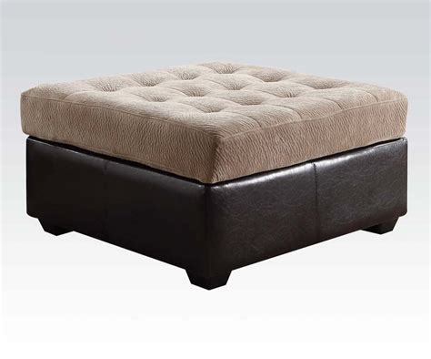 Camel Chion Fabric Ottoman