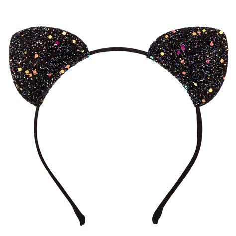 ears headband black glitter cat ears headband s