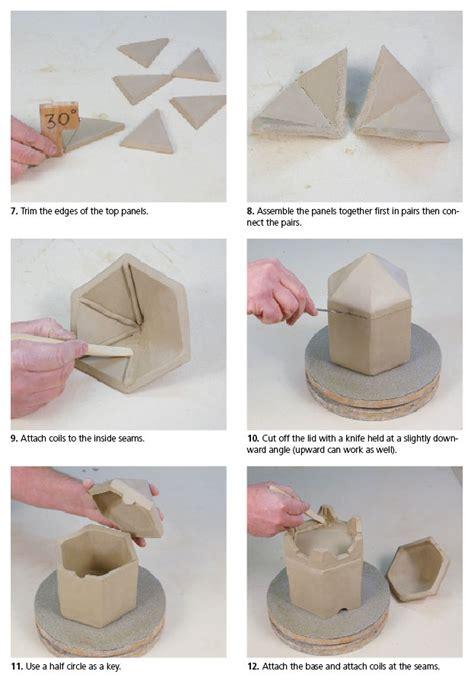 pottery templates free ceramic arts daily how to handbuild a hexagonal jar