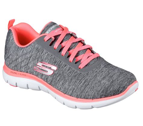 womens skecher sneakers skechers 12753 gycl s flex appeal 2 0 ebay