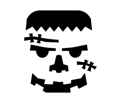 printable frankenstein pumpkin carving pattern template