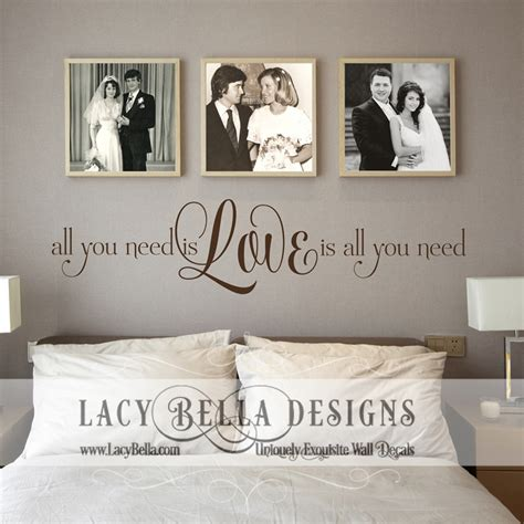 wall decals for bedroom quotes beatles song lyric wall decal master bedroom quote