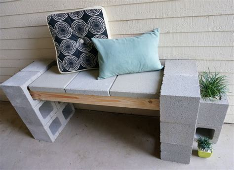 cynder block bench a front porch makeover featuring a cinder block bench