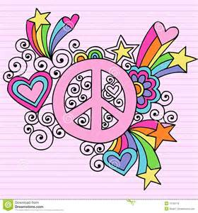 vector doodle sign psychedelic peace sign notebook doodle vector royalty free