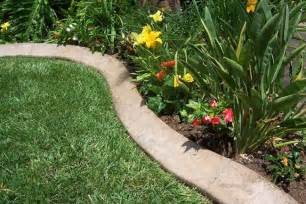 how to make concrete landscape edging