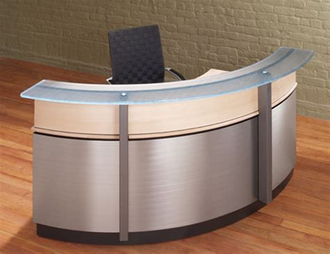 Crescent Modern Reception Desk Stoneline Designs Reception Desk Glass