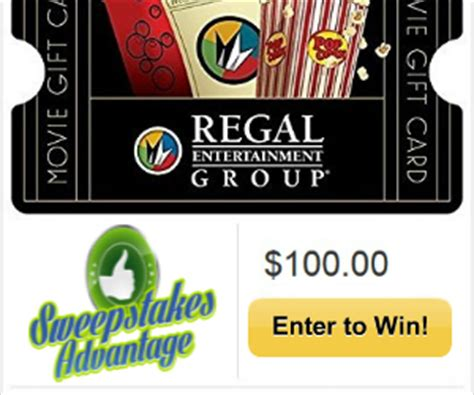 Sweepstakes Advantage Reviews - 100 regal cinemas gift card giveaway expired mama likes this